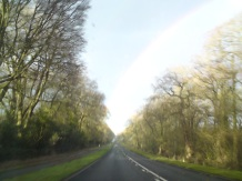 Me trying to take a pic of an AWESOME rainbow whilst DRIVING!